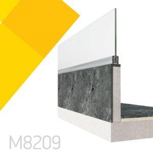 Επιδαπέδιο σύστημα στήριξης υαλοπίνακα Alumil M8209