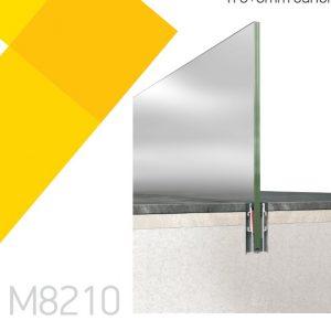Εγκιβωτισμένο σύστημα στήριξης υαλοπίνακα Alumil M8210