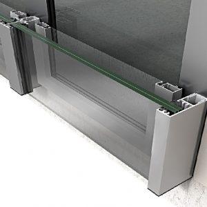 Σύστημα γυάλινου προστατευτικού κάγκελου Alumil Smartia M8250