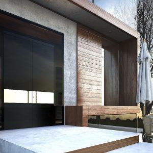 Γυάλινη πόρτα ασφαλείας Interno Zen