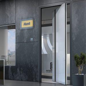 Γυάλινη πόρτα ασφαλείας Interno Zen Pivot Glass