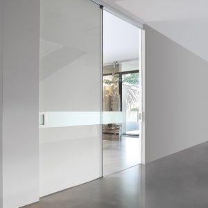 Γυάλινη εσωτερική πόρτα Golden Door Alfa Light συρόμενη