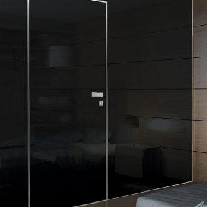 Γυάλινη πόρτα ασφαλείας Light με επένδυση από γυαλί