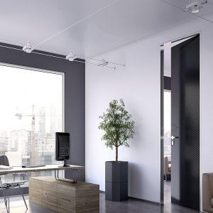 Εσωτερική πόρτα Interno Exlusive 200 με επένδυση γυαλιού , καπλάμα ή δέρματος