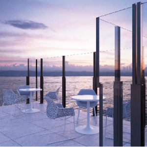 Σύστημα γυάλινου ανεμοφράκτη Aluminco Open Air Thea