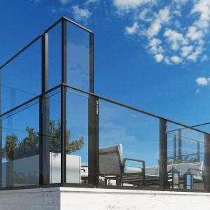 Σύστημα γυάλινου ανεμοφράκτη Aluminco Open Air Ultra+