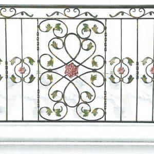 Παραδοσιακά κάγκελα σιδήρου Αλμέ σχέδιο 22 για μπαλκόνι