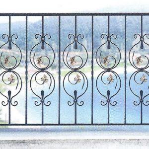 Παραδοσιακά κάγκελα σιδήρου Αλμέ σχέδιο 24 για μπαλκόνι