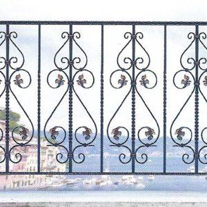 Παραδοσιακά κάγκελα σιδήρου Αλμέ σχέδιο 32 για μπαλκόνι