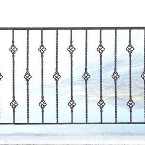 Παραδοσιακά κάγκελα σιδήρου Αλμέ σχέδιο 44 για μπαλκόνι