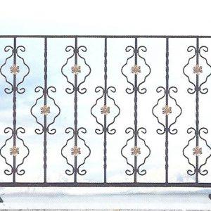 Παραδοσιακά κάγκελα σιδήρου Αλμέ σχέδιο 46 για μπαλκόνι
