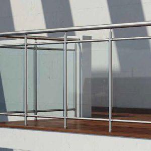 Κάγκελα αλουμινίου Inox F50 Aluminco Horizon U-rail