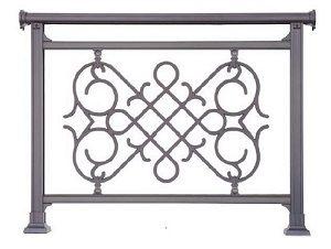 Παραδοσιακά κάγκελα αλουμινίου Aluminco Al Flex Βυζαντινό