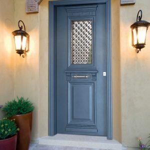 Πόρτα ασφαλείας Golden Door Τζαμωτή σχέδιο 1010