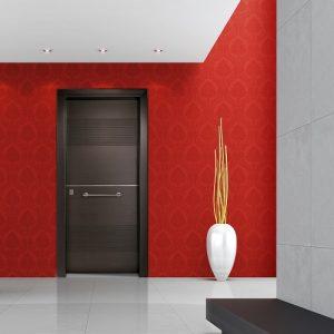 Πόρτα ασφαλείας Golden Door μοντέρνο σχέδιο σε καπλαμά E33