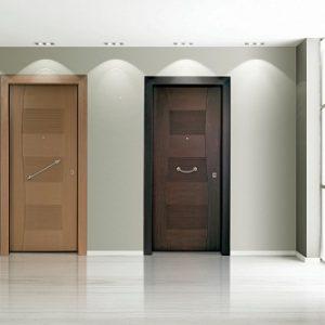 Πόρτα ασφαλείας Golden Door μοντέρνο σχέδιο σε καπλαμά E34
