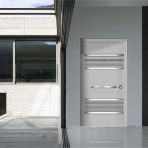 Εξωτερική πόρτα αλουμινίου Style Doors Basic με κάσα αλουμινίου