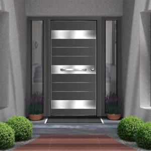 Εξωτερική πόρτα αλουμινίου Style Doors Elegance με κάσα αλουμινίου