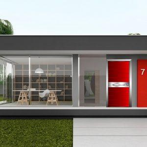 Εξωτερική πόρτα αλουμινίου Style Doors Luxury με κάσα αλουμινίου