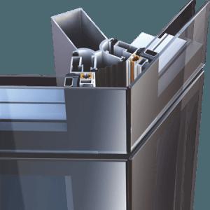 Υαλοπέτασμα επένδυσης κτιρίου Alumil M4