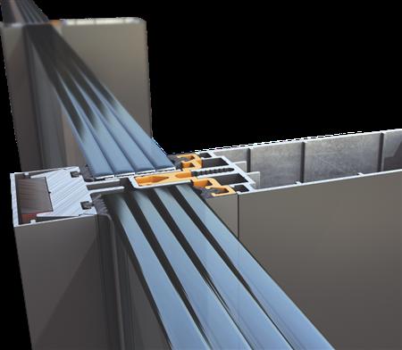Υαλοπέτασμα επένδυσης κτιρίου Alumil M50 Security