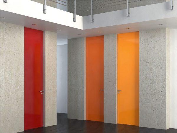 Ξύλινη πρεσσαριστή εσωτερική πόρτα Interno Suite 100 Ral