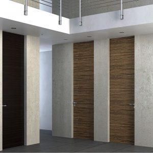 Ξύλινη πρεσσαριστή εσωτερική πόρτα Interno Suite 100 χρώμα ξύλου